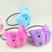 Protective earmuffs cute pink kitten fashion
