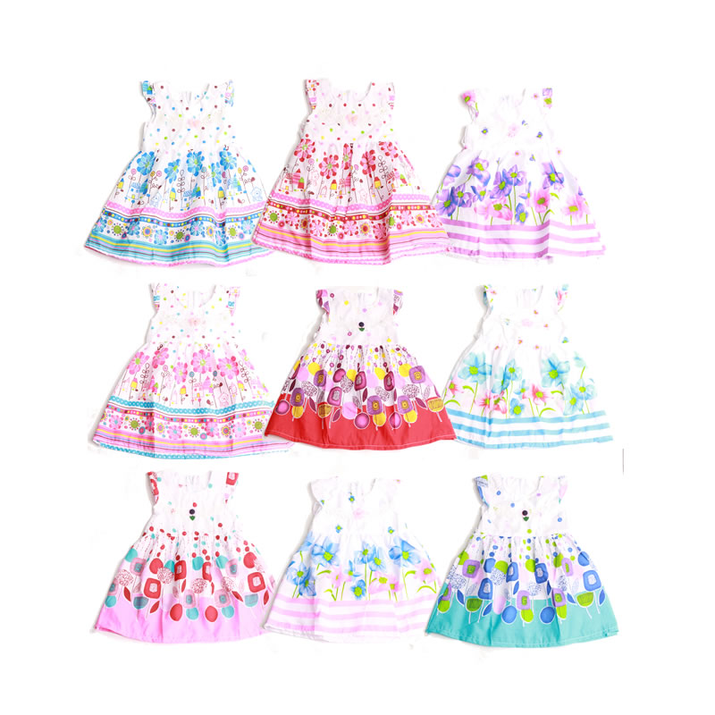 Girls Dresses Summer 2018 Cute Floral Sleeveless Kids Princess Dress Girl Enfant robe fille Baby Girl Clothes Children Clothing summer baby girl printed pattern straps dresses toddler girls baby clothing sleeveless baby dress kids casual clothes yp