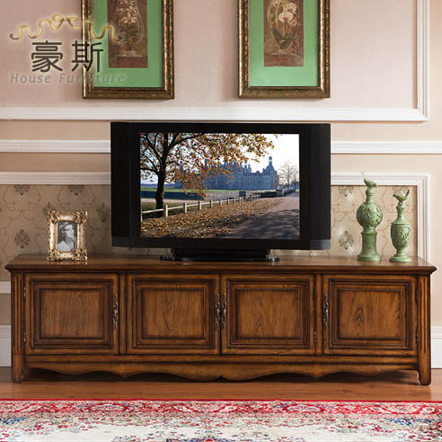 Europe and America to do the old antique style living room large capacity  storage TV cabinet All solid wood residential furnitur-in Children Cabinets  from ... - Europe And America To Do The Old Antique Style Living Room Large