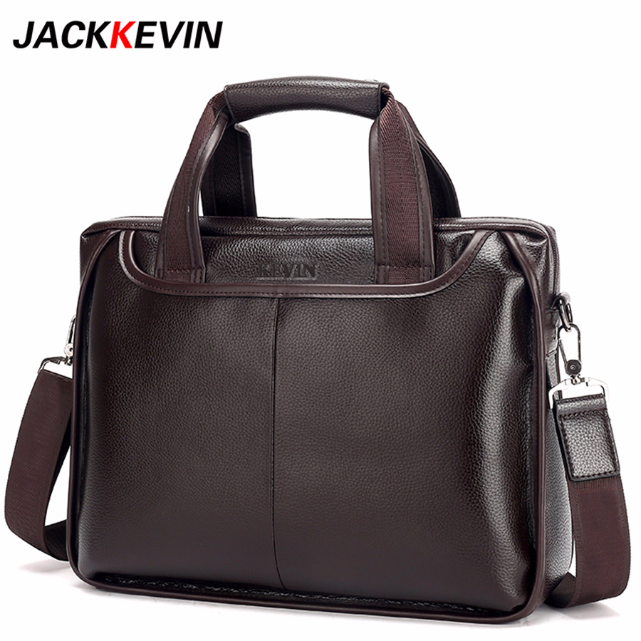 2018 New Fashion Pu male commercial briefcase Leather vintage men s messenger bag casual Large Size