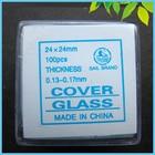 100 PCS 24X24mm Microscope Glass Slide Coverslips Blank Slides Microscope Accessory 0.13-0.17mm