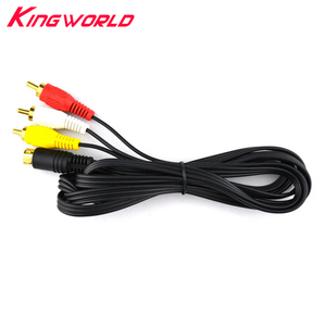 Image 1 - 10 pcs NEW Gold Plating Plug Audio Video AV Kabel voor SEGA Saturn A/V RCA Cord voor SS