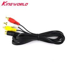 Cable AV de Audio y vídeo chapado en oro nuevo, 10 Uds., para SEGA Saturn A/V RCA Cord para SS