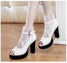 Sommer Frauen Knöchelriemen Sandalen Sexy Damen Weiß Schwarz Sandale Partei Schuhe Mit Hohen Absätzen Plattform Heels Alias Femininas S3084
