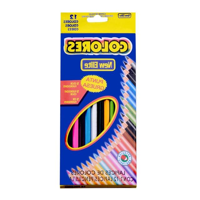 12pcs Secret Garden special coloring pens 12 colors high concentration of color pencils pencil drawing children