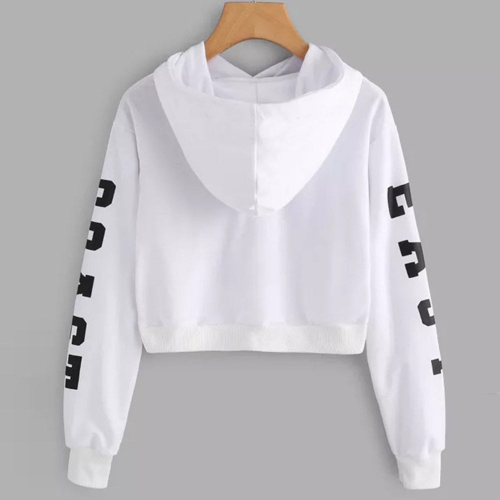 KANCOOLD Top Sweatshirts Women Letters Long Sleeve Hoodie Sweatshirt Pullover Tops Causal high quality sweatshirt women 18DEC6 14