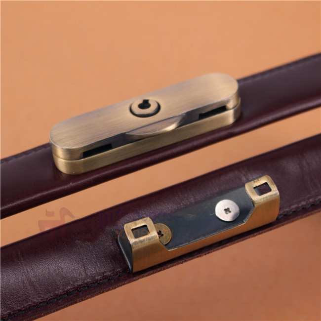DIY handmade leather bag accessories lock bag briefcase doctor bag mouth gold package lock in Stopper from Home Garden