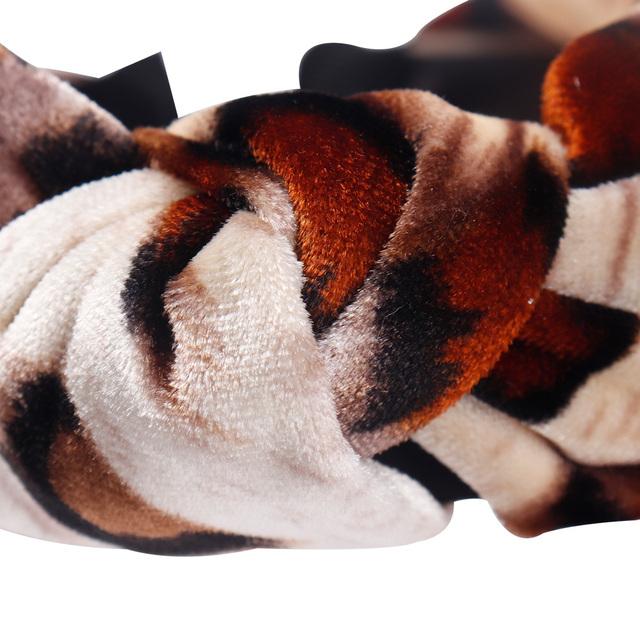 Women's Leopard Velvet Headband