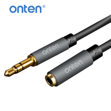 Onten Earphone Headphone Extension Cable 3.5mm Jack Male to Female Audio Aux Extension Cable 1m 2m for iPhone 6s Laptop PC Phone 3 5mm extension audio cable male to female aux cable headphone cable 3 5 mm extension cable for iphone 6s mp3 mp4 player 1m 2m