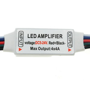 Image 4 - RGBW LED Amplifer DC5 24V 4A * 4 ช่องLED AmplifierสำหรับRGBW LED Strip Power RepeaterคอนโซลController.