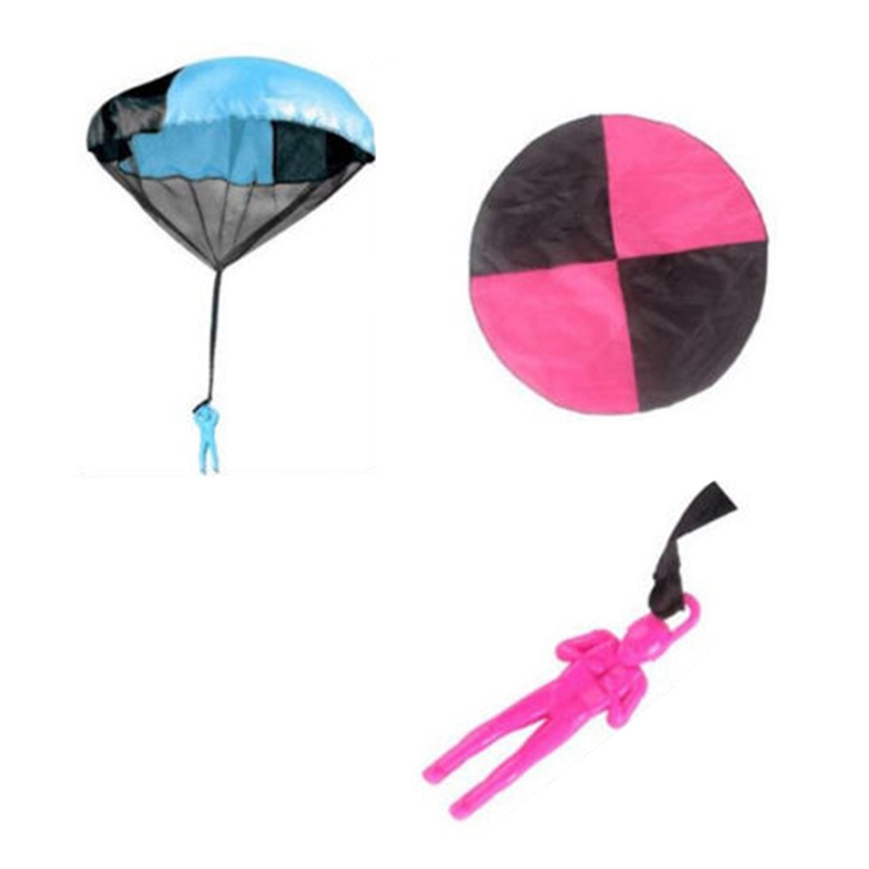 Funny Hand Throwing Parachutes Kids Mini Play Parachute Soldier Toy Outdoor Garden Sports Toys color random