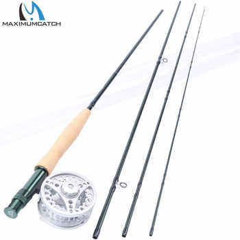 """Maximumcatch Fly Rod and Reel Combo 8\'4\""""/8\'6\'/9\'/9\'6\'\'/10 3/4/5/6/7/8WT Carbon Fishing Rod with Large arbor Aluminum Reel - DISCOUNT ITEM  41% OFF Sports & Entertainment"""