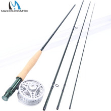 Maximumcatch Fly Rod and Reel Combo 84 86 9 96 10 3 4 5 6 7 8WT Carbon Fishing Rod with Large arbor Aluminum Reel cheap River Reservoir Pond stream Lake 2 7 m Rod+Reel Aluminium Alloy Fly Fishing 8 4 8 6 9 9 6 10 100 IM8 30T Graphite carbon fiber