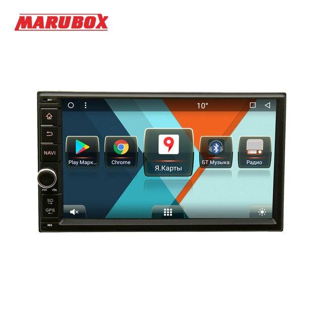 ユニバーサルダブル 2 喧騒車のマルチメディアプレーヤー MARUBOX 706MT3 、クアッドコア、アンドロイド 7.1 2 ギガバイトの RAM 、 32 ギガバイト、 GPS 、ラジオ 6686 、 Bluetooth なしの DVD