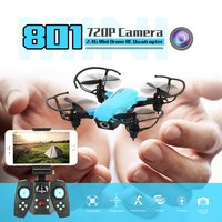801 2.4G WIFI 720P Camera Mini Drone Foldable Dron Altitude Hold Headless One key Return 3D Eversion Speed Switch RC Quadcopter
