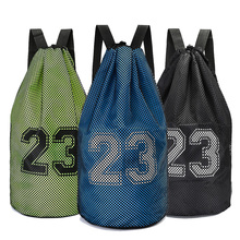 Купить с кэшбэком Large basketball bags For balls Soccer Drawstring Mash pack Fitness Bucket Bag Outdoor Basketball Backpack For Men J781522