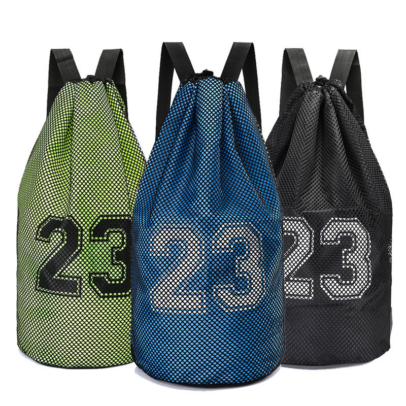 Large basketball bags For balls Soccer Drawstring Mash pack Fitness Bucket Bag Outdoor Basketball Backpack For Men J781522 ...