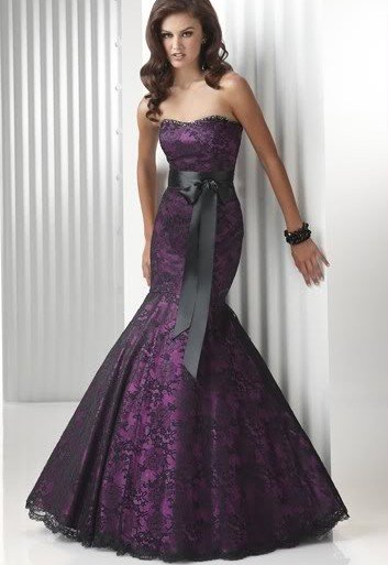 NOBLE PURPLE Wedding dress/gown DRESS bridesmaid DRESS Size CUSTOM ...