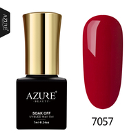 AZURE BEAUTY Gel Polish Nail Varnish Dark Red Color Nail Polish Soak Off UV Gel Lacquer Led Azure Gel Nail Paint Hybrid Enamel