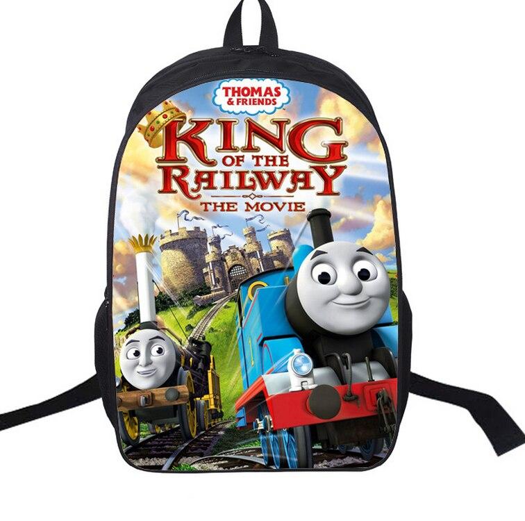16 inch Kids Backpack Thomas and Friend Children School Bags For Boys Orthopedic Backpacks Boy BookBag Satchel Knapsack Mochila