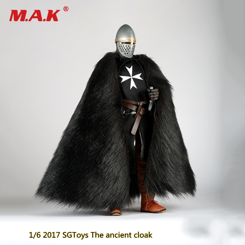 1/6 The ancient cloak Fake Leather Coat Model for 12 inches Male Soldier General Action Figure hot sale open front geometry pattern batwing winter loose cloak coat poncho cape for women