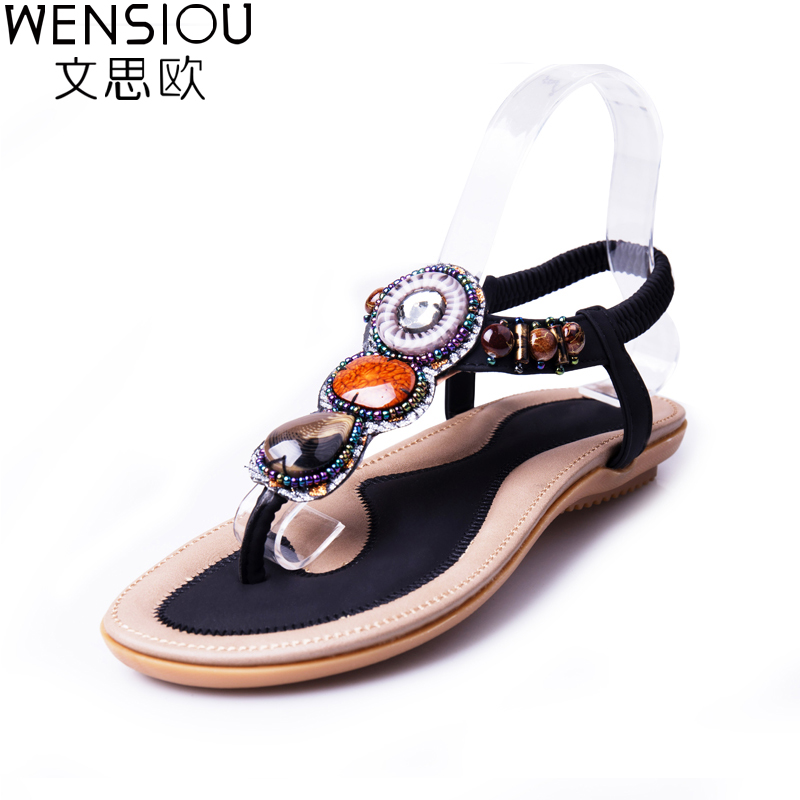 2017 New Summer Women Sandals Fashion Woman Flip Flop Sandal Bohemian Style Female Casual Wild Flat