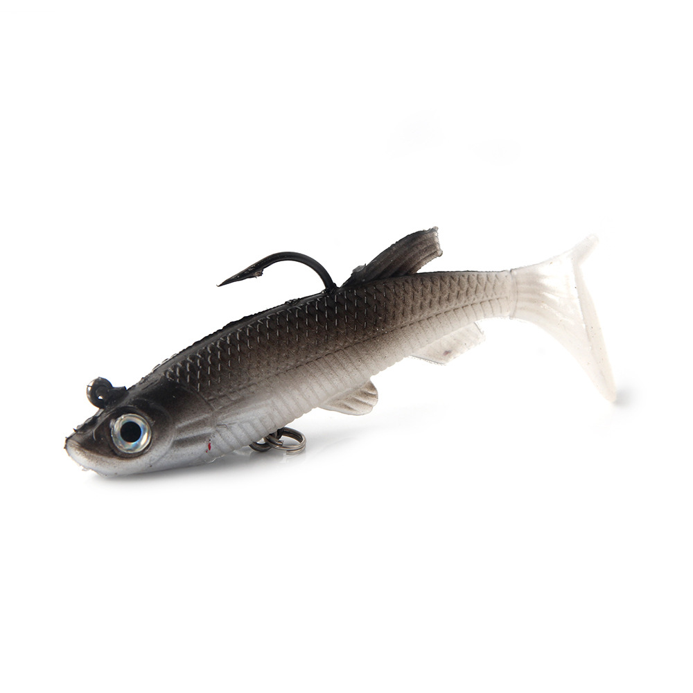 t tail fishing bait 8 9cm14g Bionic fishing bait False bait double hook Package lead lure bait in Fishing Lures from Sports Entertainment