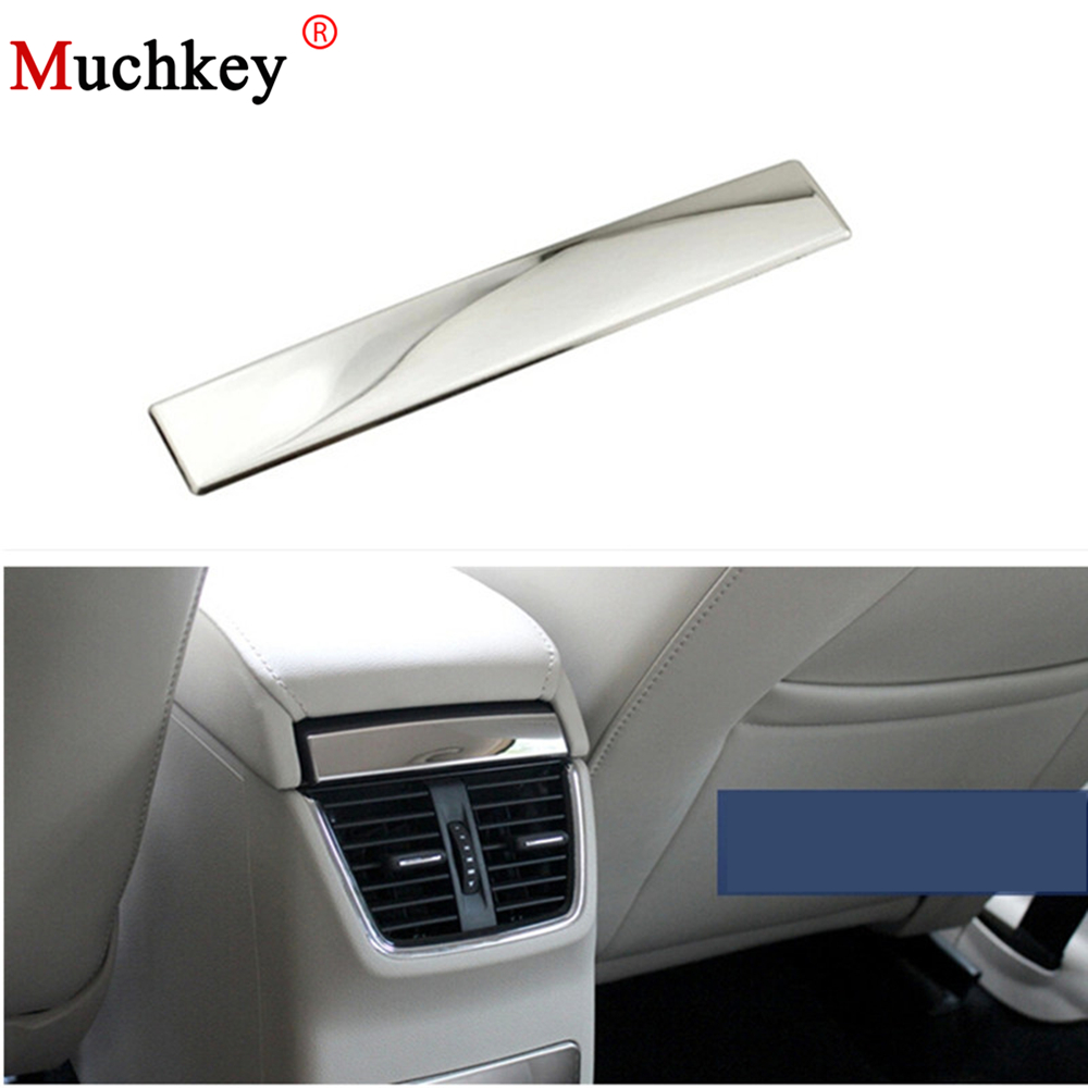 For Skoda Octavia A7 2015 2016 Stainless steel trim after light stick handrails box auto accessories 1pc