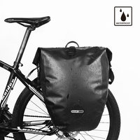 RHINOWALK 26L Bike Accessories Bag Black Red Yellow Double Bicycle Rear Seat Trunk Bag Handbag Pannier Luggage Container