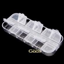Инструменты для ногтей красоты и оборудования 12 отделений прозрачный раскладной прозрачный пустой дизайн ногтей советы коробка для хранения случае маникюра