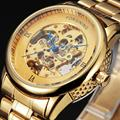 New Rome Gold Watches FORSINING Luxury Brand Men's Fashion Automatic Hollow Out Man Mechanical Watches Waches relogio masculino