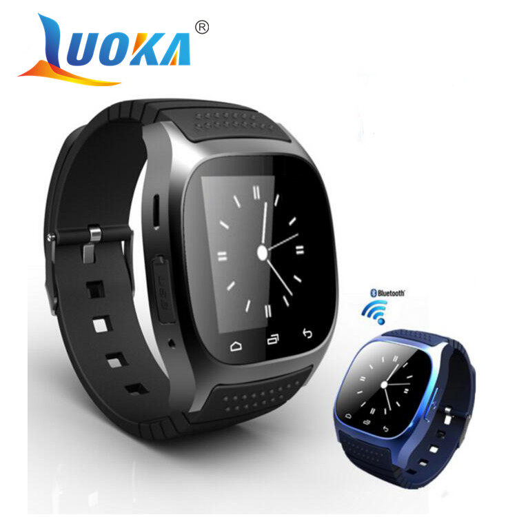 Waterproof Smartwatch M26 Bluetooth Smart Watch With LED Alitmeter Music Player Pedometer For Android Smart Phone