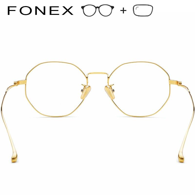 f16e778bed ... Pure B Titanium Prescription Glasses Frame Women 2019 New Luxury  Polygon Ultralight Eyeglasses Men Myopia Optical ...