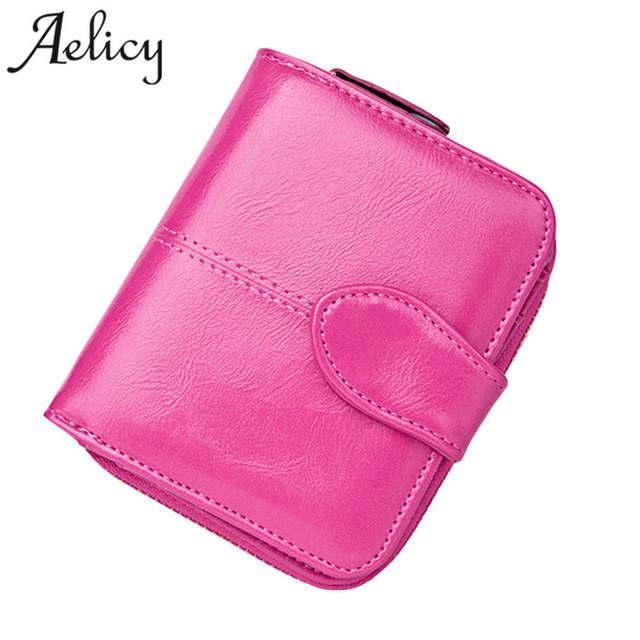 c8dba86d1 Aelicy moda cartera mujeres del monedero femenino de la alta calidad cartera  de cuero multifunción monedero