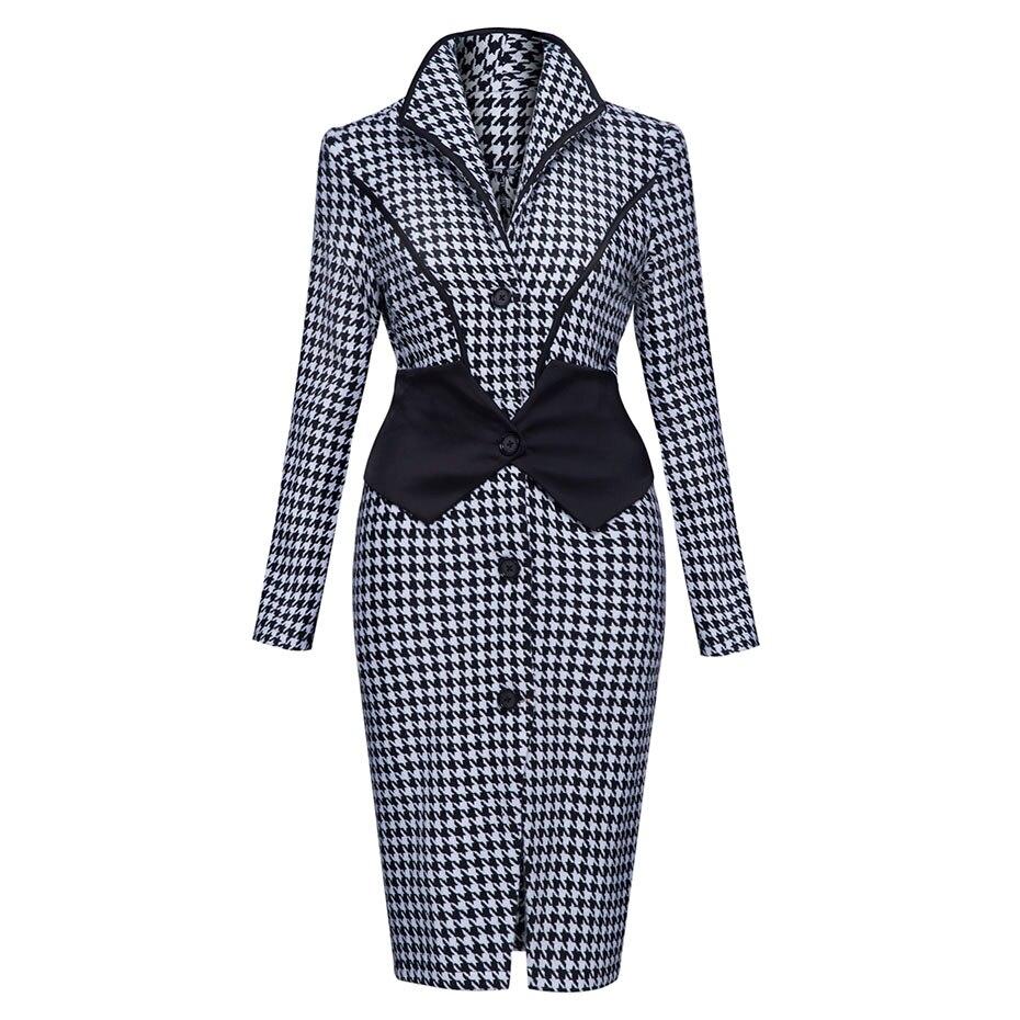 Женское осеннее пальто в винтажном стиле, длинное, с длинным рукавом, сексуальное, тонкое пальто с отложным воротником, модное лоскутное пал...