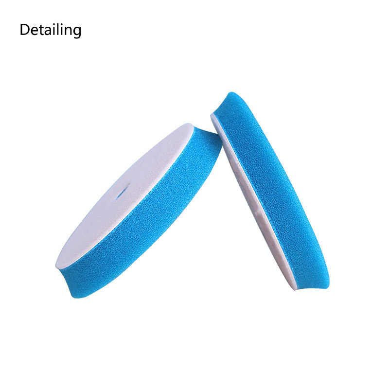 DETAILING Bevel Edge Blue Heavy Cut Foam Buffing Pad Sponge Polishing Pad for 6inch Dual Action Polisher Use