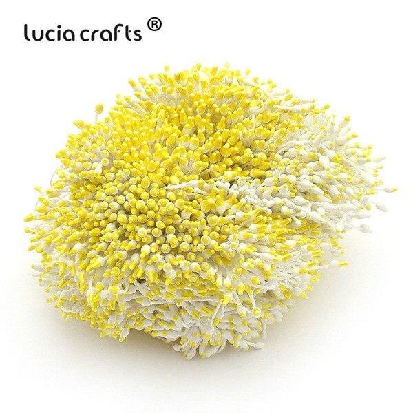 288 шт 60 мм разноцветные варианты наконечник пестик тычинка цветок тычинка украшения торта двойная головка тычинки D0501 - Цвет: color 2
