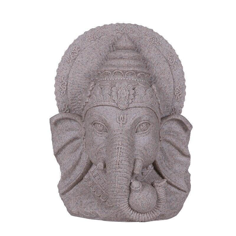 Sable hindou dieu Statue décoration grès dieu Figurine décoration de la maison cadeau à la main éléphant dieu Statue Sculpture ornement