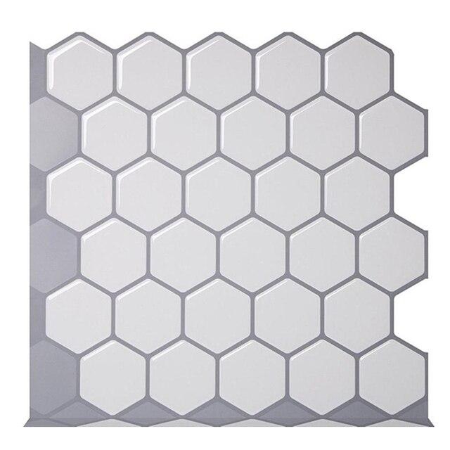 Hexagon Off White Vinyl Sticker 2