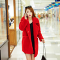 Fur one piece women's sheep shearing overcoat berber fleece fur coat medium-long female wool overcoat