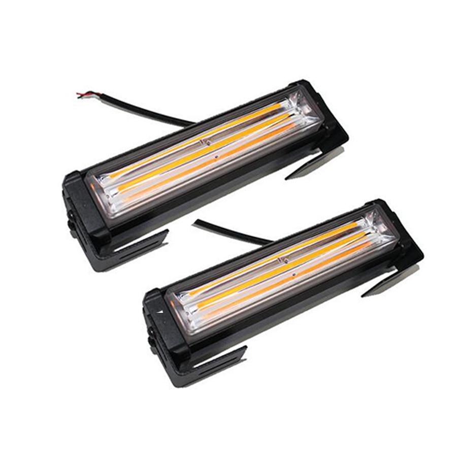 Universal 36W COB LED Hazard Warning Car SUV Flash Strobe Beacon Light Bar Amber