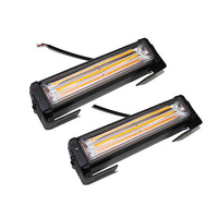 Universal 36W COB LED Hazard Warning Car SUV Flash Strobe Beacon Light Bar Amber