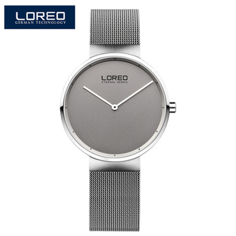 LOREO New Fashion luxury brand watches Women quartz-watch stainless steel mesh strap ultra thin dial clock relogio Q47 new fashion top luxury brand wwoor watches men quartz watch stainless steel mesh strap ultra thin dial clock relogio masculino