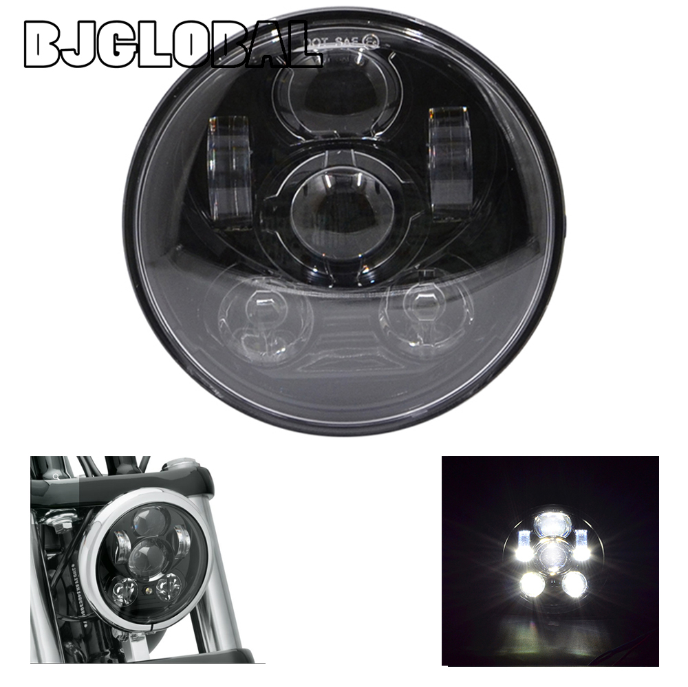 ФОТО BJGLOBAL 2016 New Motos Accessories headlight Motorcycles  Stop Light White color black die-cast aluminum housing,clear PC lens