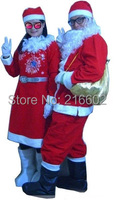Santa Claus cartoon animation clothing walking cartoon dolls doll clothes for Christmas promotional performances