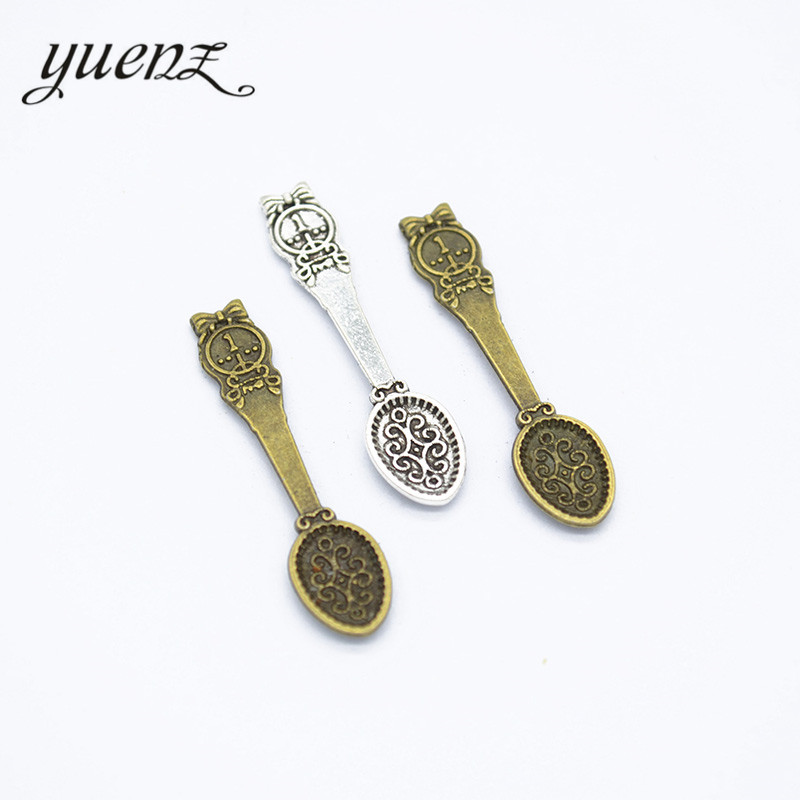 YuenZ 20pcs Coin Spoon charms jewelry making 34*8mm J314