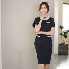 New Korean tattoo manicurist work clothes beauty salon nurse set foot massage foot bath SAP work clothes women korean ginger foot bath