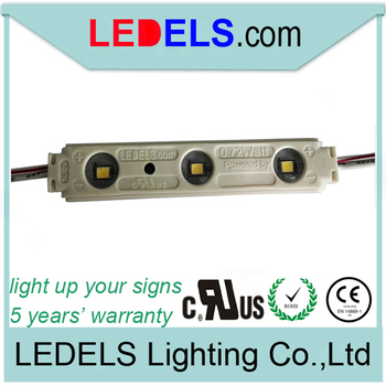 UL CE ROHS approved,5 years warranty,0.72w Everlight 2835 led module outdoor led sign lighting slim light box led module outdoor