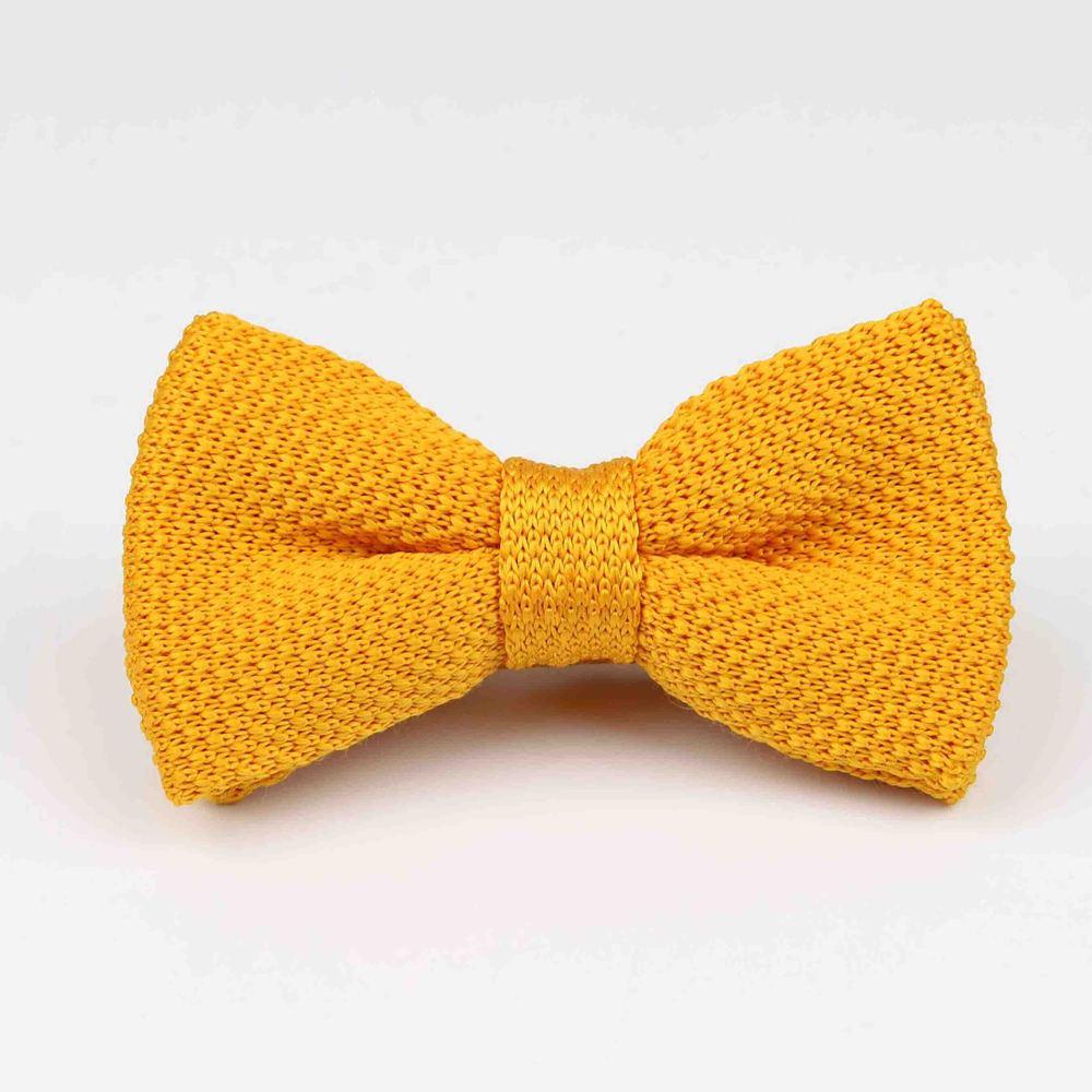 Мужские галстуки для шеи, смокинг, вязаная бабочка, Одноцветный галстук-бабочка, толстый двухслойный предварительно завязанный Регулируемый вязаный Повседневный галстук - Цвет: 29