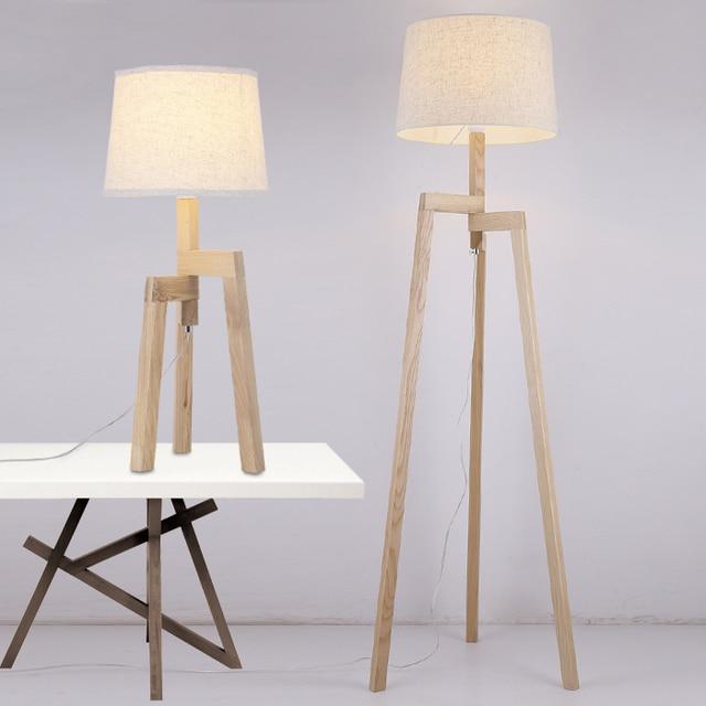 Moderne Holz Tisch Stehlampe Wohnzimmer Schlafzimmer Studie ...